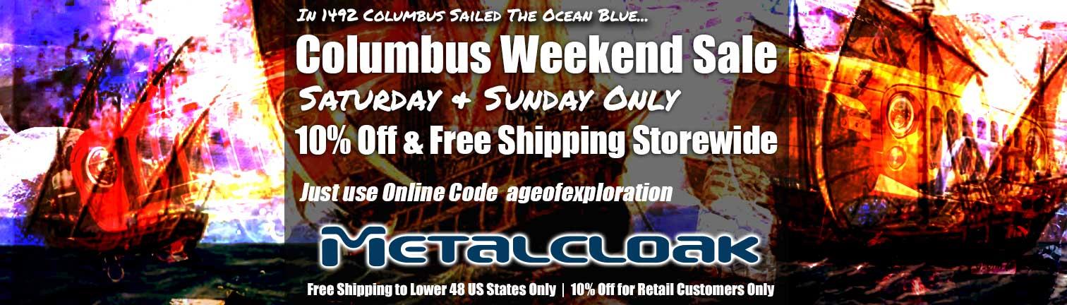 metalcloak columbus day sale